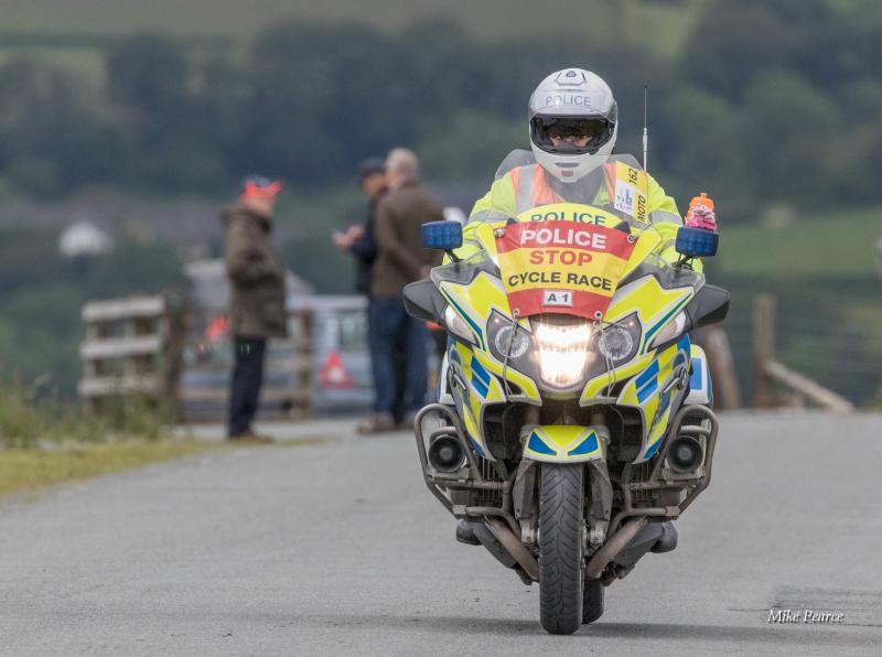 Police escort bike