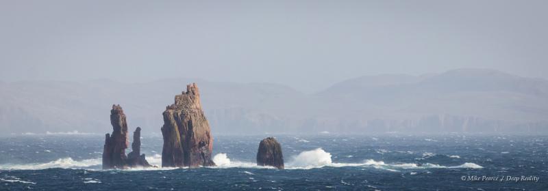 Seascape after the storm, near Hillswick, Shetland Islands