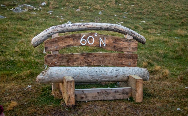 At 60 degrees north latitude on the Isle of Mousa   Scotland