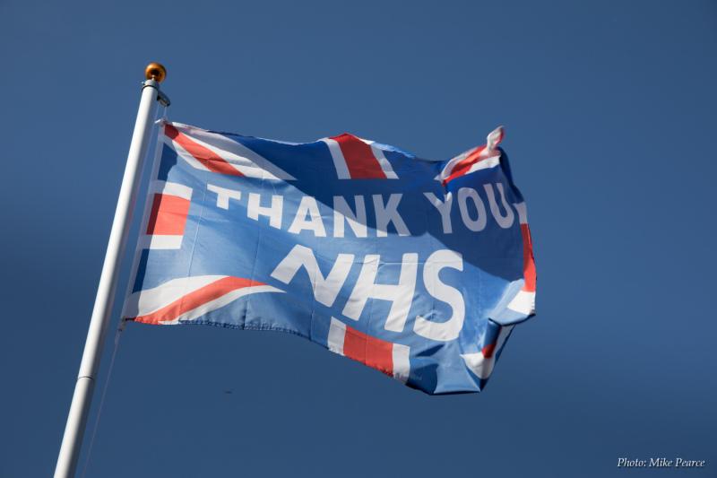 Thank You NHS flag |Glastonbury
